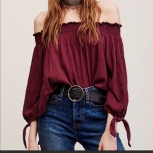 We the free off the Shoulder top